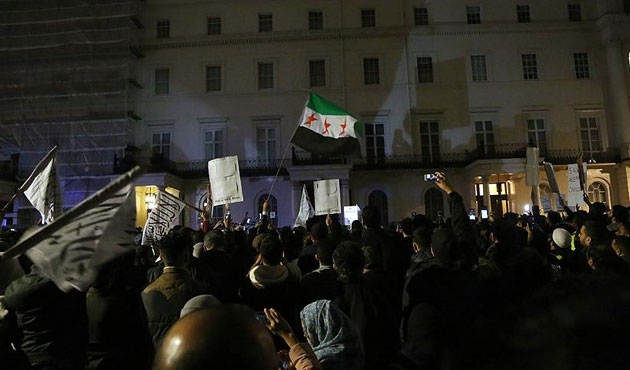Halep saldırıları İran Büyükelçiliği önünde protesto edilecek