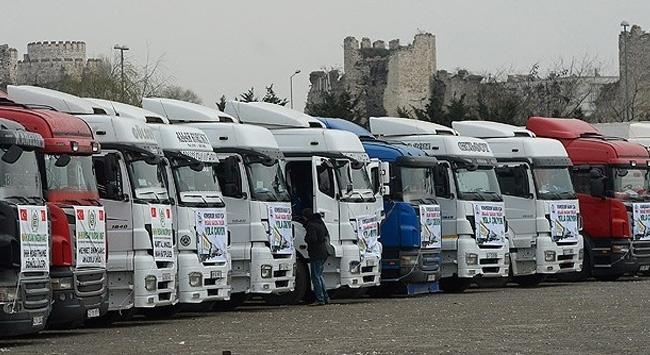 İHH'nın Halep konvoyu yola çıkıyor