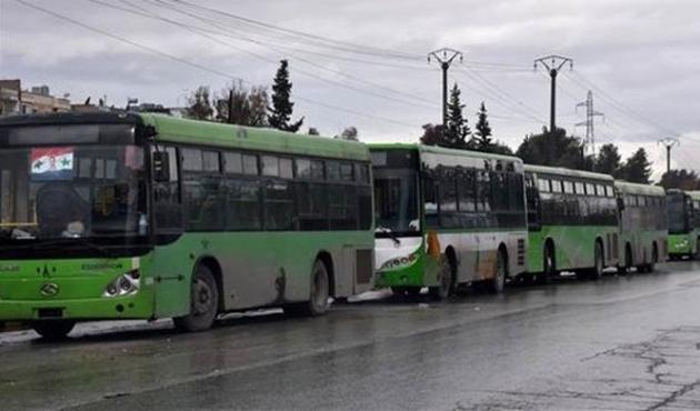Halep'ten ilk tahliye konvoyu muhaliflerin bölgesinde