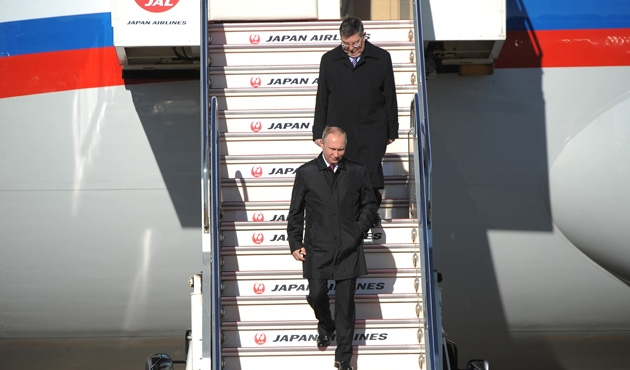 Putin Japonya turunda