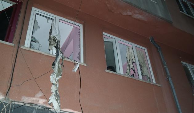 Doğalgaz patlamasında Suriyeliler yaralandı