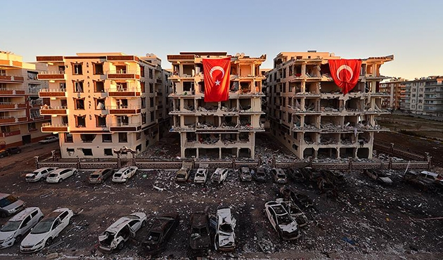 Viranşehir'deki 'terör' tahribatı gün aydınlanınca ortaya çıktı