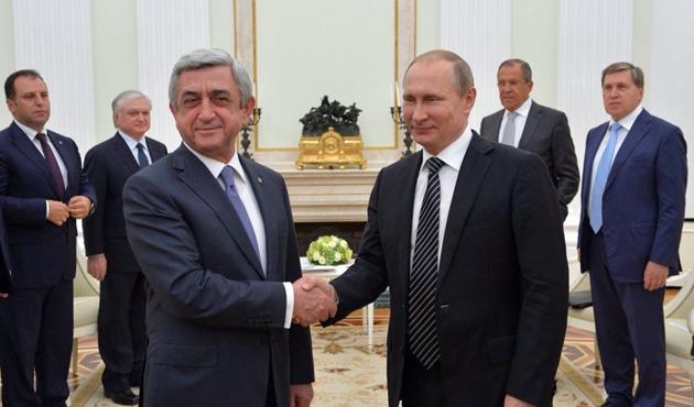 Ermenistan Cumhurbaşkanı Sarkisyan Moskova'da