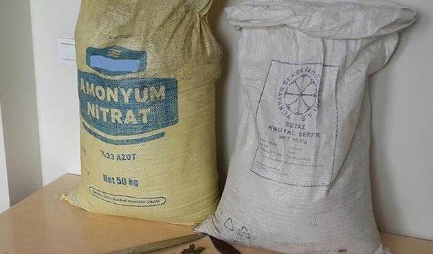 Bingöl'de 1 ton amonyum nitrat ele geçirildi