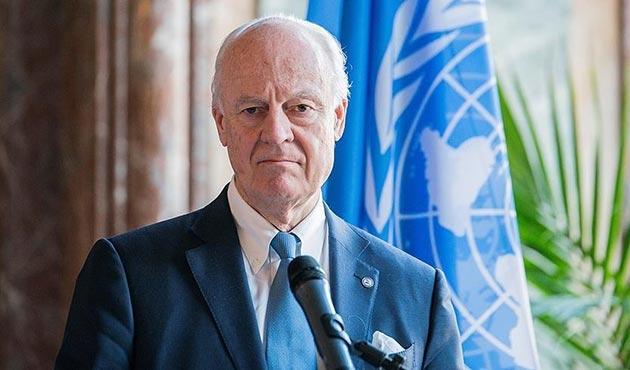 Mistura'dan garantör ülkelerinin temsilcileriyle 'Suriye' görüşmesi
