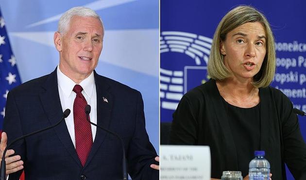Pence ile Mogherini'den Kıbrıs müzakerelerine destek