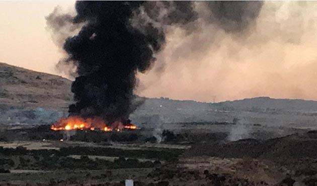 Kilis'te askeri alanda yangın: Yaralılar var
