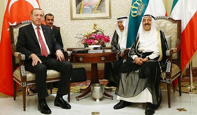 Cumhurbaşkanı Erdoğan Kuveyt Emiri ile görüştü | FOTO