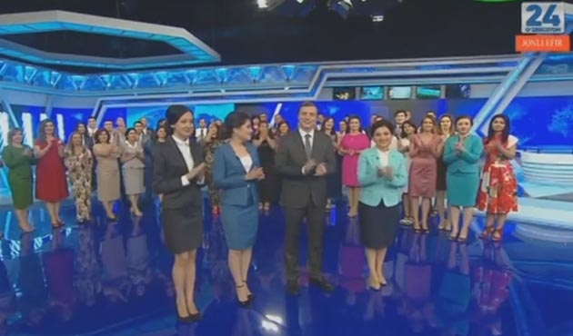 Özbekistan'da ilk kez 24 saat yayın yapan kanal