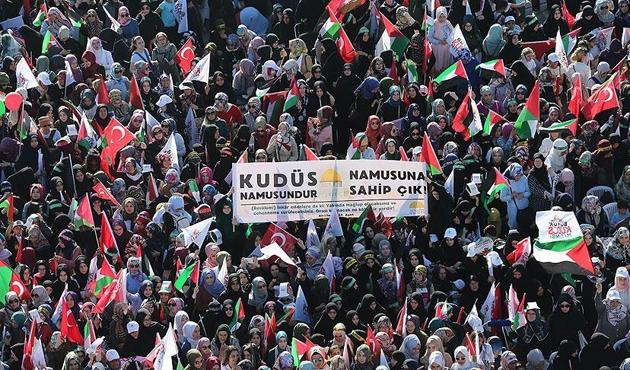 Arap basını Yenikapı'daki 'Büyük Kudüs Mitingi'ni böyle gördü
