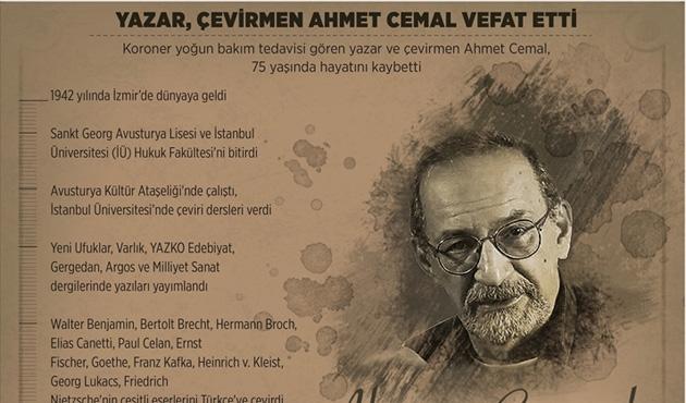 Yazar ve çevirmen Ahmet Cemal vefat etti