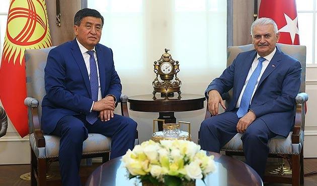 Başbakan Yıldırım, Kırgızistan Başbakanı Ceenbekov'u kabul etti