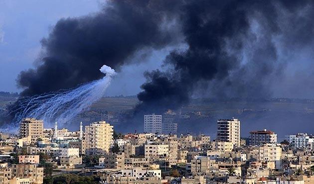 İşgal ordusundan Gazze'ye savaş uçağı ve tankla saldırı