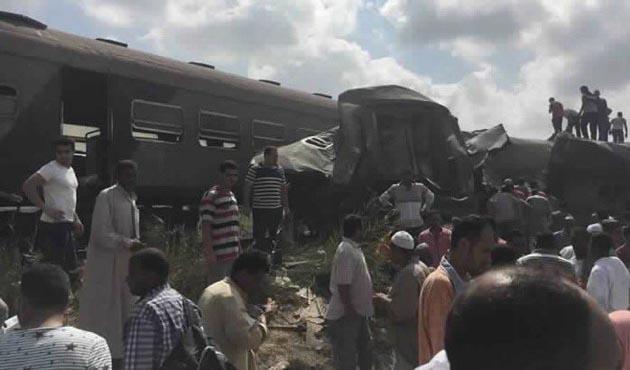 Mısır'daki tren kazasında 49 ölü