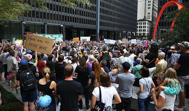 ABD'deki ırkçı olaylara Chicago'da protesto | FOTO