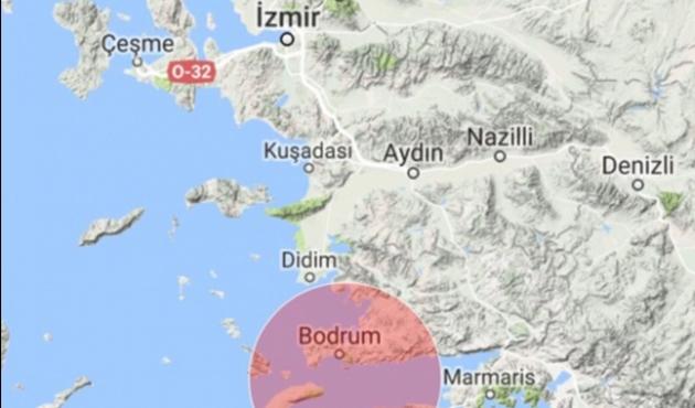 Gökova Körfezi'nde 4,2 büyüklüğünde deprem