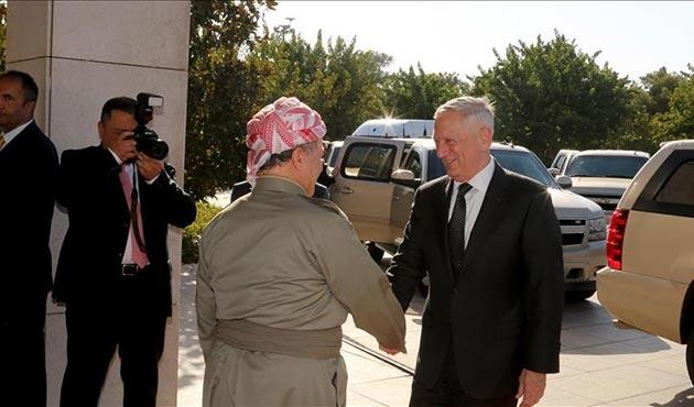 ABD Savunma Bakanı Mattis ile Barzani arasında kritik görüşme