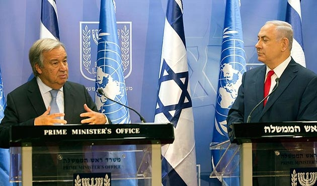 BM Genel Sekreterinden iki devletli çözüm vurgusu