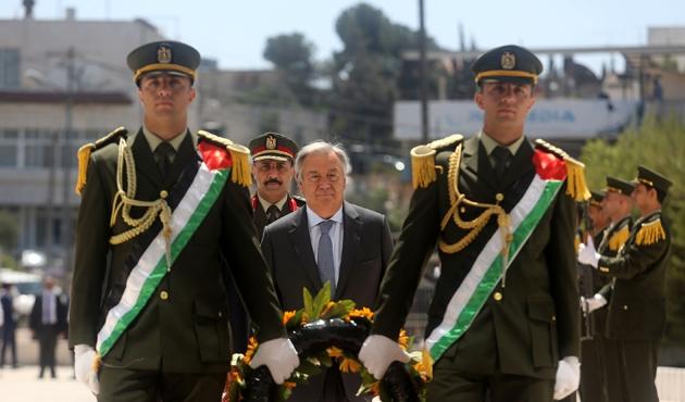 BM Genel Sekreteri Guterres Ramallah'ta