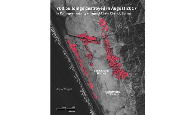 Arakan'da yakılan köylerin uydu görüntüleri yayınlandı