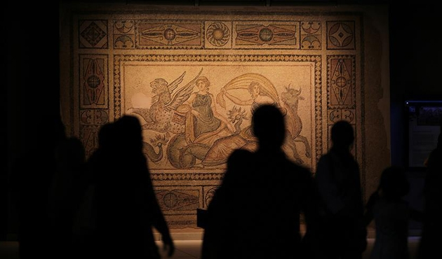 Zeugma Mozaik Müzesine bayramda yoğun ilgi | FOTO