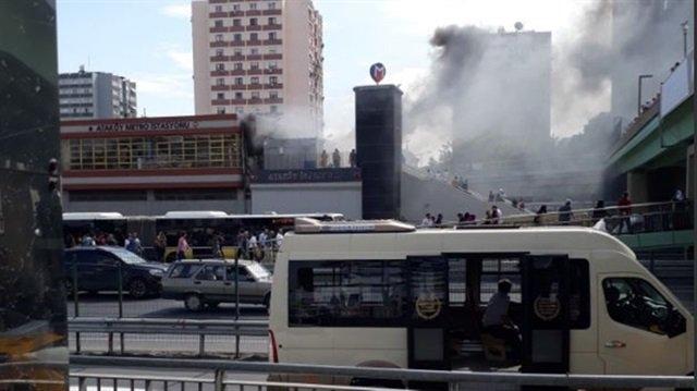 İstanbul Metrosu'nda yangın