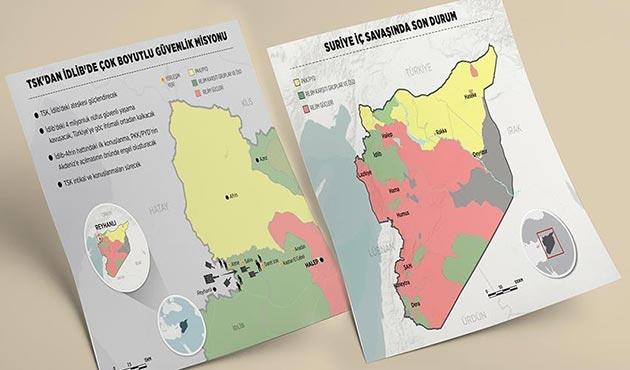 TSK'dan İdlib'de çok boyutlu güvenlik misyonu | GRAFİKLİ