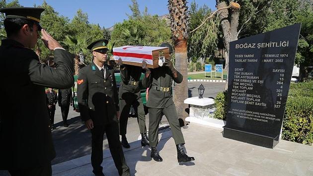Kıbrıs şehidine 43 yıl sonra cenaze töreni