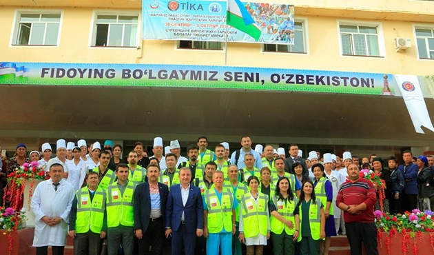 TİKA'dan Özbekistan'a 'sağlık' desteği