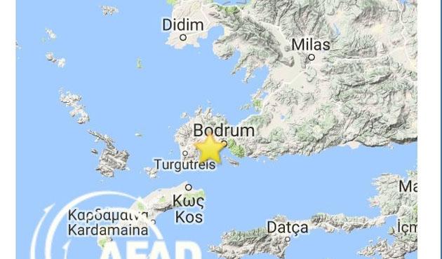 Ege Denizi'nde 4,6'lık deprem