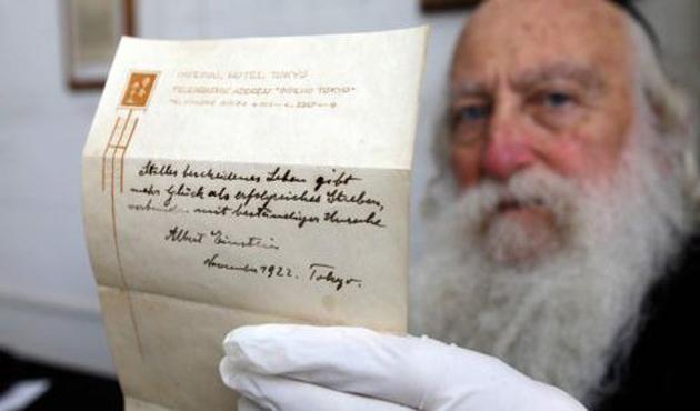 Einstein'ın 'mutluluk teorisine' 1,56 milyon dolar