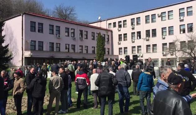 Bosna Hersek'te emekli protestosu