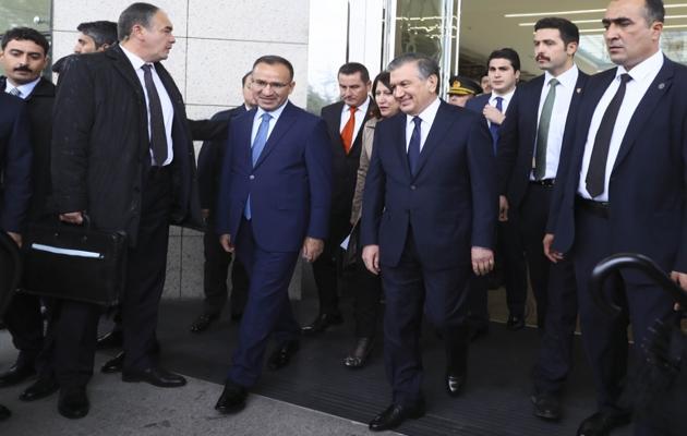 Özbekistan Cumhurbaşkanı Mirziyayev, Ankara'da