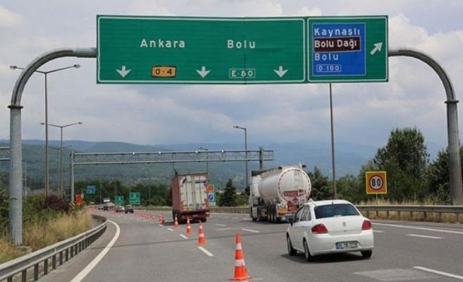 TEM otoyolu Bolu kesimi 9 gün daha kapalı