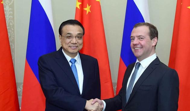 Rusya Başbakanı Medvedev Çin'de