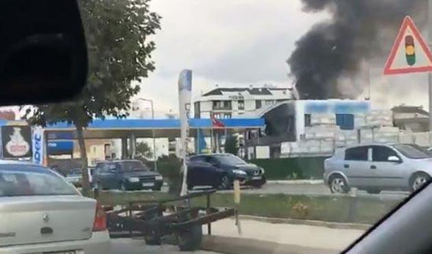 Tuzla'da akaryakıt istasyonunda yangın