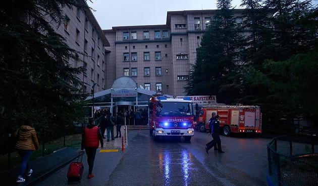 Ankara Eğitim ve Araştırma Hastanesinde şüpheli yangın
