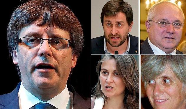 Gözaltındaki Puigdemont ve 4 bakan için tahliye kararı