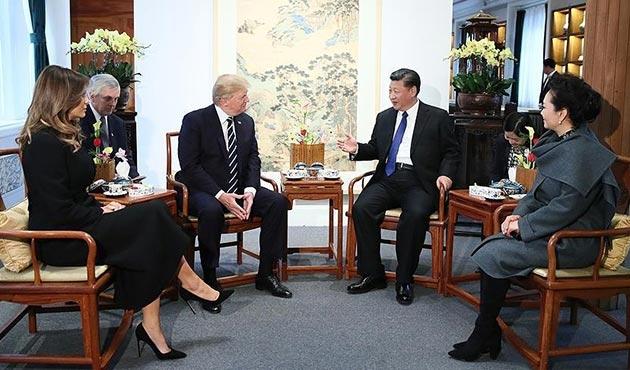 Trump'tan Çin'de 'Kuzey Kore' açıklaması