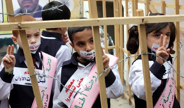 Üç yüz çocuk İsrail hapishanelerinde