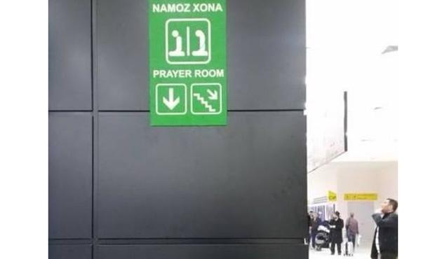 Taşkent Uluslararası Havalimanı'nda Mescit açıldı