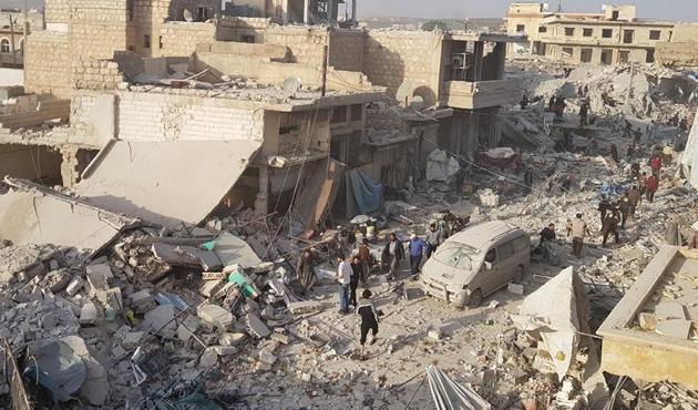 Halep'teki pazar yeri katliamında ölü sayısı artıyor