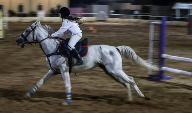 Gazze'de engel atlama şampiyonası yapıldı