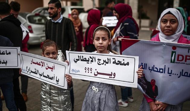 Gazze'de imar gecikmesine protesto