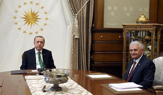 Cumhurbaşkanı Erdoğan, Başbakan Yıldırım'ı Beştepe'de kabul etti