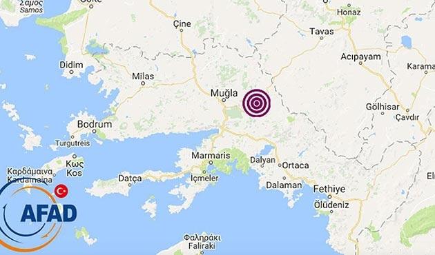 Muğla'da sabahleyin korkutan deprem