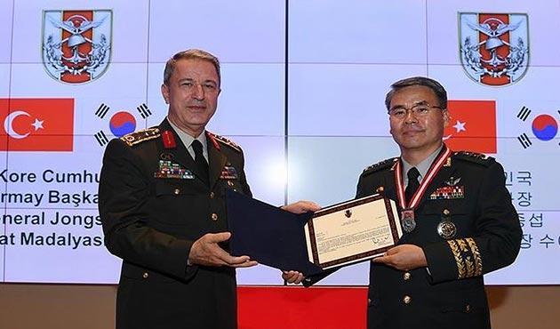 Akar, Kore Genelkurmay Başkan Yardımcısı Jongsup'u kabul etti