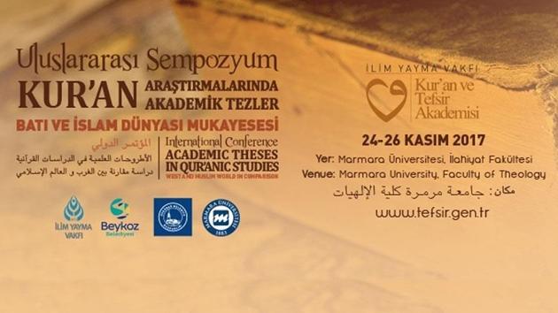 'Kur'an Araştırmaları' sempozyumu İstanbul'da başlıyor