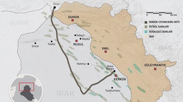 Irak merkezi hükümetinden yeni Kerkük-Ceyhan petrol boru hattı