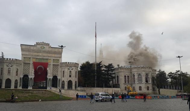 İstanbul Üniversitesi Beyazıt Kampüsünde yangın